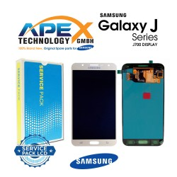 Samsung Galaxy J7 (SM-J700F) Display module LCD / Screen + Touch Gold GH97-17670B