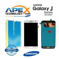 Samsung Galaxy J7 (SM-J700F) Display module LCD / Screen + Touch White GH97-17670A