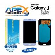 Samsung Galaxy J7 2017 (SM-J730F) Display module LCD / Screen + Touch Blue Silver GH97-20736B