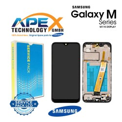 Samsung Galaxy M11 (SM-M115F) Display module LCD / Screen + Touch Black GH81-18736A