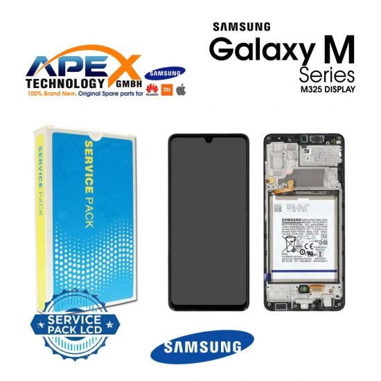 Samsung Galaxy M32 (SM-M325F) Display module LCD / Screen + Touch Black + Btry GH82-26192A