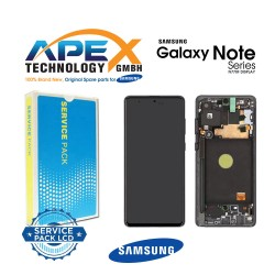 Samsung SM-N770 Galaxy Note 10 Lite Display module LCD / Screen + Touch - Black - GH82-22055A OR GH82-22193A OR GH82-22194A