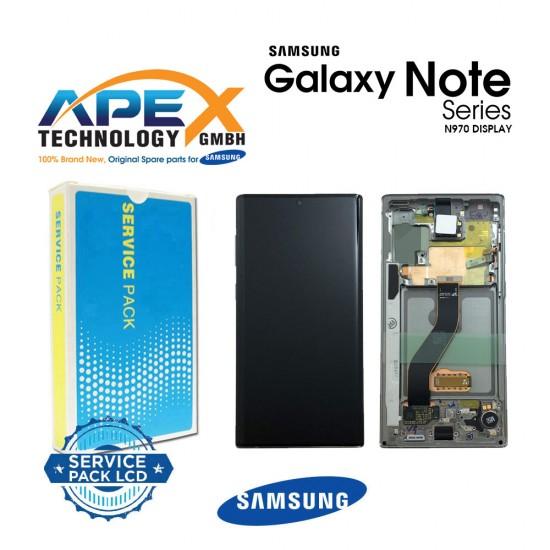 Samsung SM-N970 Galaxy Note 10 Display module LCD / Screen + Touch - Aura Glow / Silver - GH82-20818C
