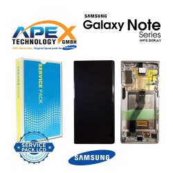 Samsung SM-N970 Galaxy Note 10 LCD Display / Screen + Touch - Aura Glow / Silver