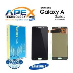 Samsung SM-A310 Galaxy A3 (2016) Display module LCD / Screen + Touch - Black / Gold - GH97-18249B OR GH97-19803B