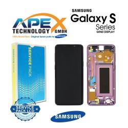 Samsung Galaxy S9 (SM-G960F) Display unit complete lilac purple GH97-21696B