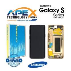 Samsung Galaxy S9 (SM-G960F) Display unit complete sunrise gold GH97-21696E