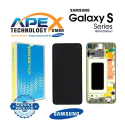Samsung Galaxy S10e (SM-G970F) Display module LCD / Screen + Touch canary yellow GH82-18852G