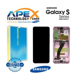 Samsung SM-G980 Galaxy S20 Display module LCD / Screen + Touch - Pink - GH82-22131C OR GH82-22123C