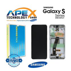Samsung SM-G980 Galaxy S20 Display module LCD / Screen + Touch - White - GH82-22131B OR GH82-22123B