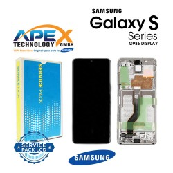 Samsung Galaxy S20 Plus 5G (SM-G986B) Display module LCD / Screen + Touch cloud White GH82-22134B