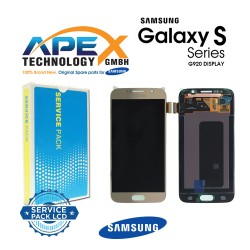 Samsung Galaxy S6 (SM-G920F) Display module LCD / Screen + Touch Gold GH97-17260C