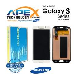 Samsung SM-G925F Galaxy S6 Edge LCD Display / Screen + Touch - White
