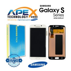 Samsung Galaxy S6 Edge+ (SM-G928F) Display module LCD / Screen + Touch White GH97-17819C
