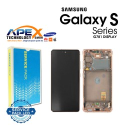 Samsung SM-G781 Galaxy S20 FE 5G Display module LCD / Screen + Touch - Cloud Orange - GH82-24214F OR GH82-24215F