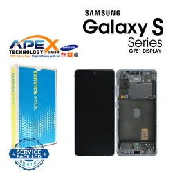 Samsung SM-G781 Galaxy S20 FE 5G Display module LCD / Screen + Touch - Cloud White - GH82-24214B OR GH82-24215B