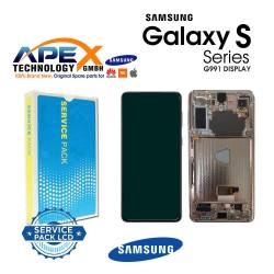 Samsung SM-G991 Galaxy S21 5G Display module LCD / Screen + Touch Gray GH82-24544A