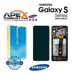 Samsung SM-G996 Galaxy S21+ 5G Display module LCD / Screen + Touch Phantom Black + Btry GH82-24744A OR GH82-24555A OR GH82-24554A OR GH82-24505A