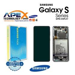 Samsung SM-G996 Galaxy S21+ 5G Display module LCD / Screen + Touch Phantom Silver +Btry GH82-24744C OR GH82-24555C OR GH82-24554C OR GH82-24505C