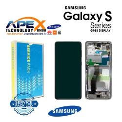Samsung SM-G998 Galaxy S21 Ultra 5G Display module LCD / Screen + Touch Phantom Black GH82-24590B OR GH82-24989B