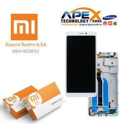 Xiaomi Redmi 6 / 6A LCD Display / Screen + Touch White