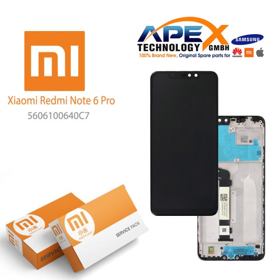 Xiaomi Redmi Note 6 Pro LCD Display / Screen + Touch Black