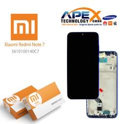 Xiaomi Redmi Note 7 Display unit complete blue (Service Pack) 5610100140C7