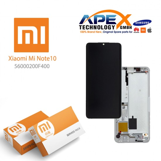 Xiaomi Mi Note 10 LCD Display / Screen + Touch  Silver
