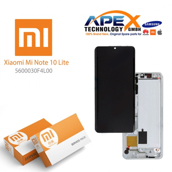 Xiaomi Mi Note 10 Lite LCD Display / Screen + Touch White