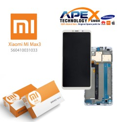Xiaomi Mi Max 3 Display unit complete white (Service Pack) 560410031033