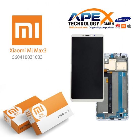 Xiaomi Mi Max3 LCD Display / Screen + Touch White