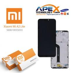Xiaomi Mi A2 Lite, Redmi 6 Pro Display module LCD / Screen + Touch (Service Pack) Black 560610035033