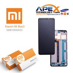 Xiaomi Mi Max 3 Display unit complete black (Service Pack) 560610042033