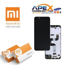 Xiaomi Mi A2 (Mi 6X) Display module LCD / Screen + Touch Black (Service Pack) 5606100530B6