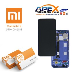 Xiaomi Mi 9 (M1902F1G) Display unit complete ocean blue (Service Pack) 561010016033