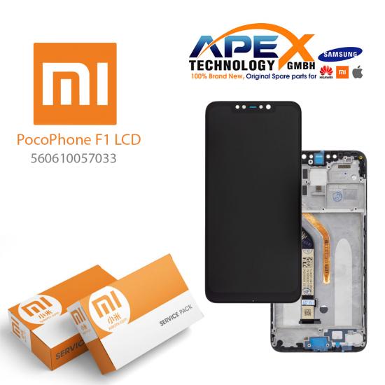 Xiaomi Pocophone F1 Display module LCD / Screen + Touch (Service Pack) Black 560610057033
