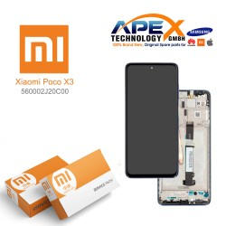 Xiaomi Poco X3 Display module LCD / Screen + Touch Cobalt Blue 560002J20C00